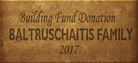 Building Fund Brick BALTRUSCHIATIS 2017